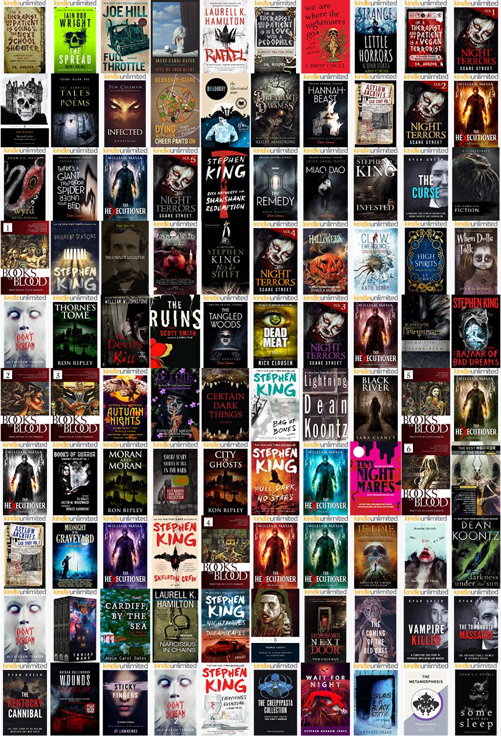 Horror: Short Stories Category Chart Preview