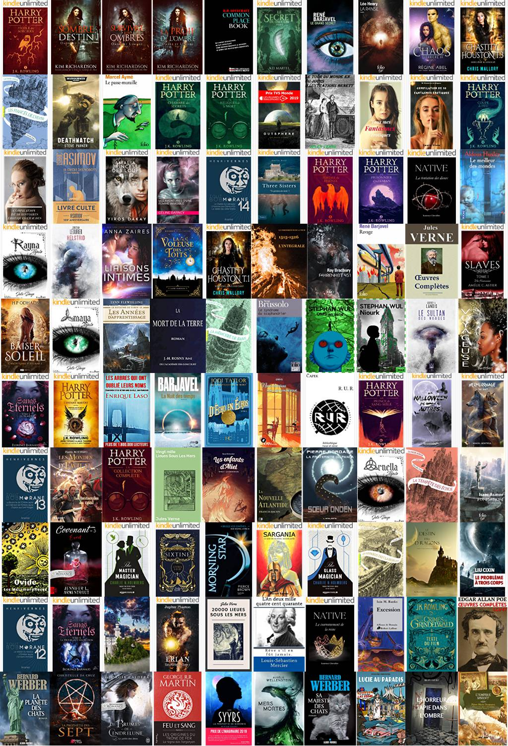 Horror: Fantasy, Horror & Science Fiction Category Chart Preview